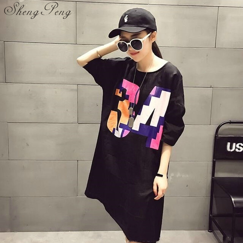 2018t shirt women female long harajuku shirt long sleeve women shirt summer style long cotton t shirt large size CC295 3