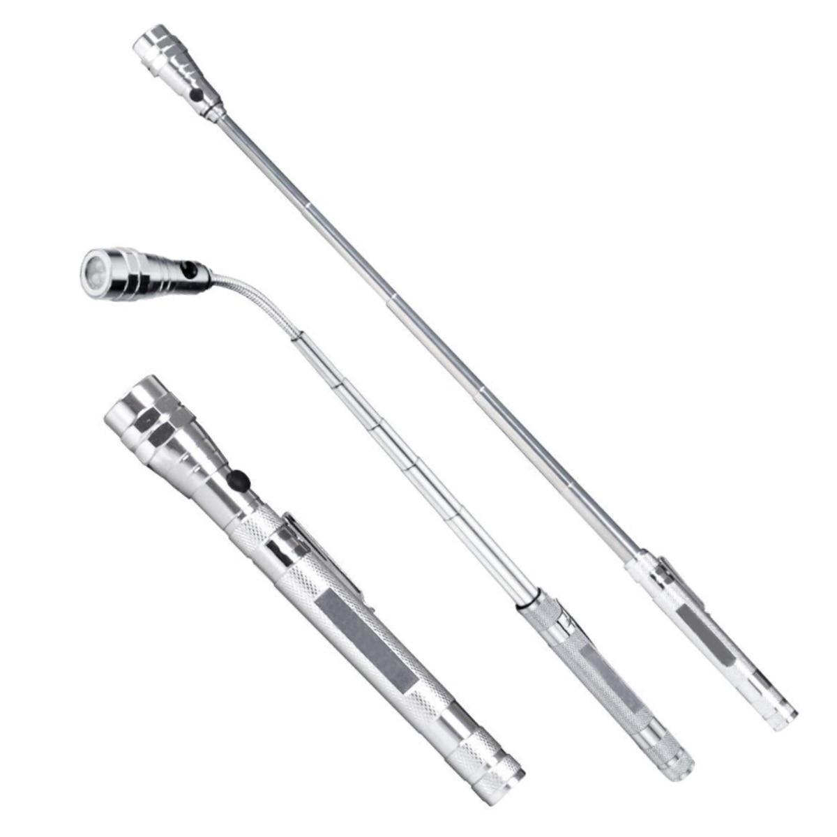 Portable Flashlight Flexible Head Flashlight  Telescopic Flexible 3 LED Torch Lamp Bottom Double Magnet Dead Angle Nemesis