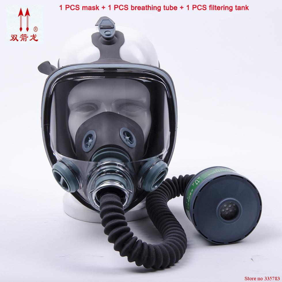 Máscara de gas respirador de alta calidad 3 juegos de pesticidas militares de control de fuego gasmaske máscara respiradora comparable III M 6800