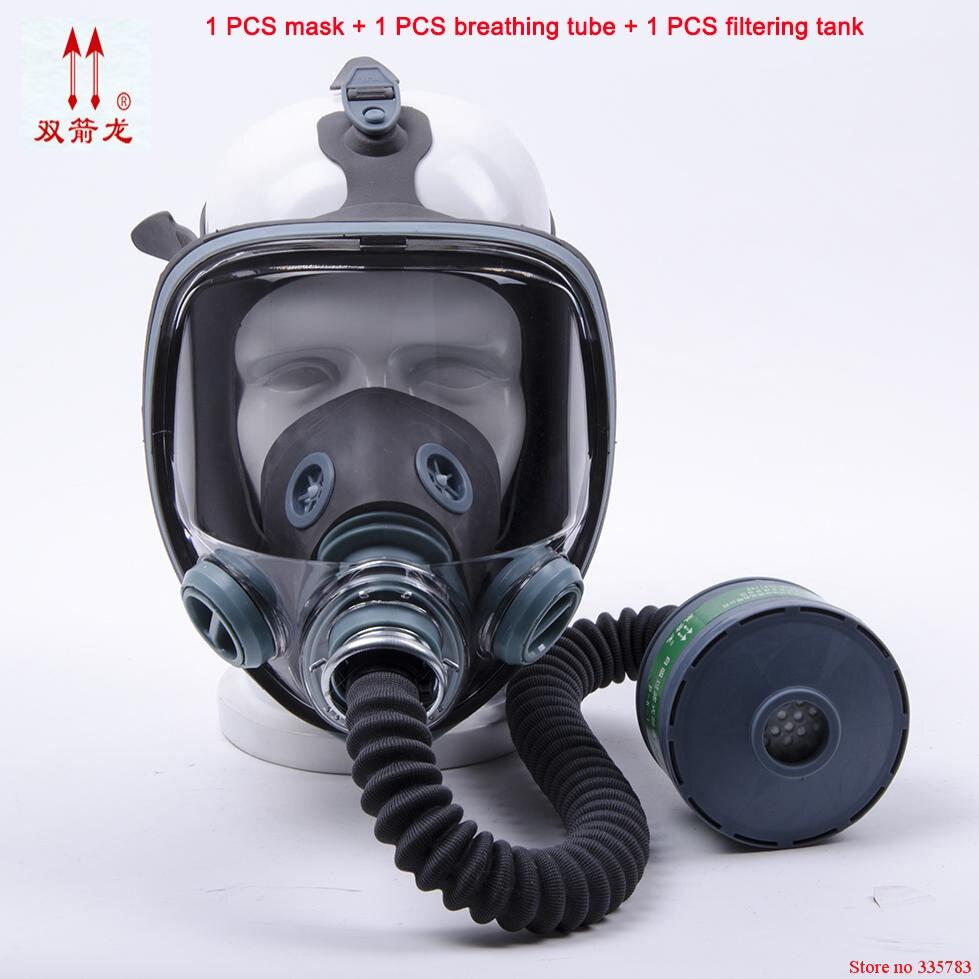 Masque à gaz respiratoire de haute qualité 3 ensembles de pesticides militaires anti-incendie gasmaske comparable III M 6800 masque respiratoire