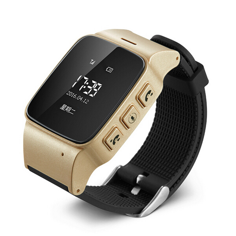 Original D99 GPS Tracking font b Smartwatch b font Suitable For Old Man Support Call Monitor