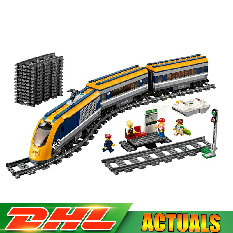 Classic Lepin 02117 City Passenger Train Model 60197 Building Blocks Bricks Toys for Children Gifts Compatible LegoINGlys 60197 gudi block city large passenger plane airplane block assembly compatible all brand building blocks educational toys for children