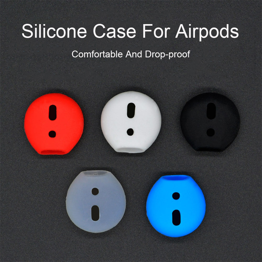 A Pair Soft Silicone Shockproof Earbuds Case For Apple AirPods Earphone Replacement Earplug Protector Ear Pads Case For Headset