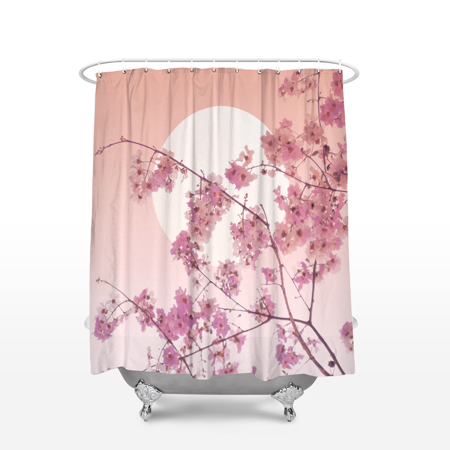 CHARMHOME Japanese Style Bathroom Decor Fabric Curtains Cherry Blossom  Sakura Tree Branches Waterproof Polyester Shower Curtain In Shower Curtains  From Home ...