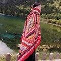 2016 Hight Calidad Étnico Totem Impreso Wrap Echarpe Bufanda Toalla de Playa de Las Mujeres Boho Del Verano de La Vendimia/del Otoño Bufandas Largas chales