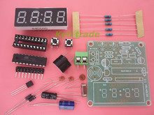 NEW High Quality C51 10set/lot 4 Bits Electronic Clock Electronic Production Suite DIY Kits for arduino Free Shipping