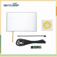 Skylarpu 10.1 بوصة 4 سلك مقاوم لوحة اللمس تحكم usb لكيت B101EVN07.0 led شاشة لمس لوحة زجاج شحن مجاني