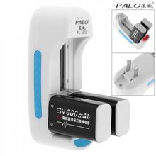 PALO 2 pcs 9 V 6F22 600 mAh Li-ion Rechargeable Batterie avec 3A Courant De Charge + Logement Unique 3.7 V 4.2 V Chargeur de Batterie Intelligent