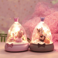 Baby Kids Angel Devil Table Desk Lamp Travel Lovers Star LED Night Light Mini Craft Lamparas Bedside Nightlight