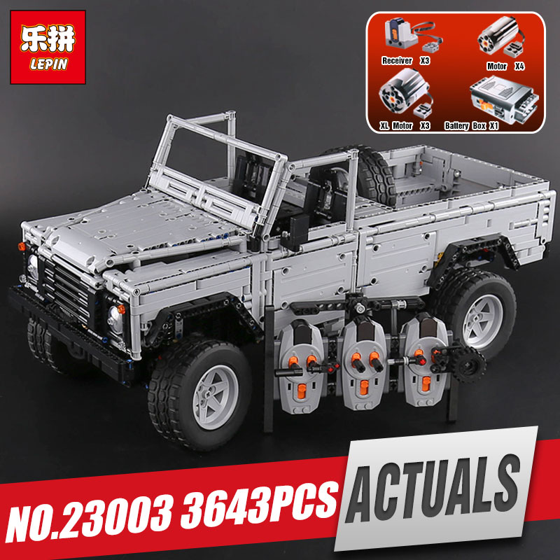 Lepin 23003 Technic series Creative MOC RC Wild off-road vehicles model Building Blocks Bricks SUV legoing toys for boys gifts lepin 20011 technic series super classic limited edition of off road vehicles model building blocks bricks compatible 41999 gift