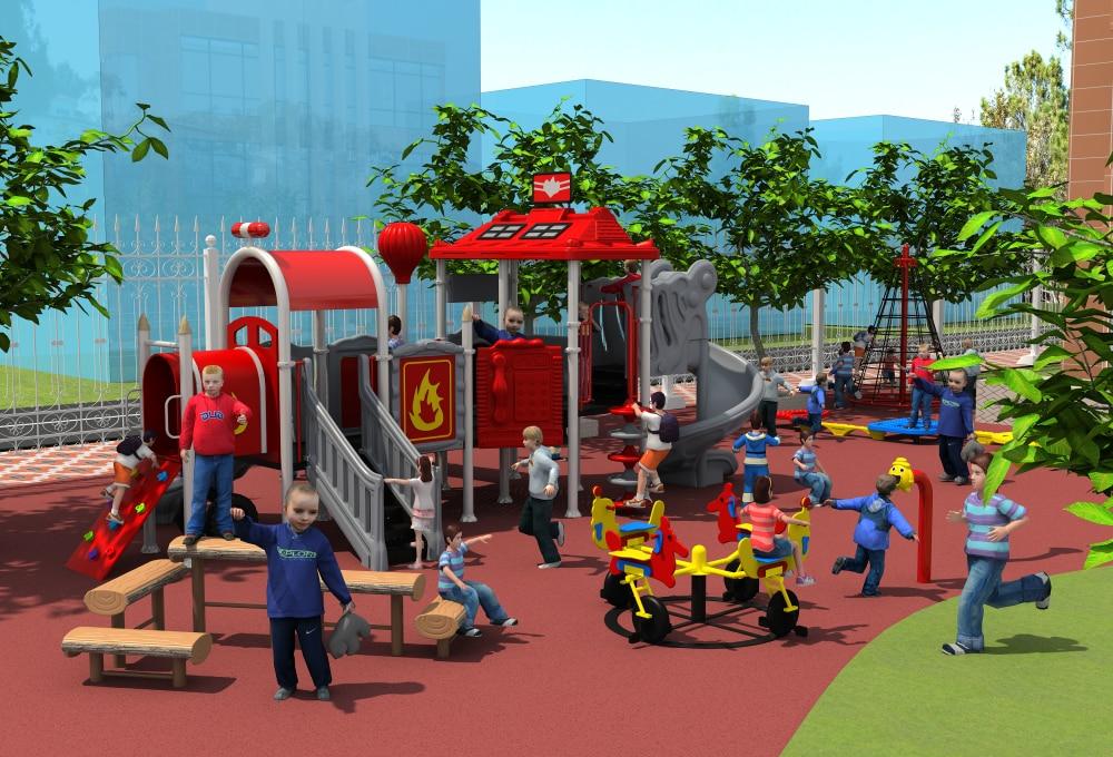 CE, ISO, TUV aire de jeux extérieure jardin en plastique toboggan enfants jeux de plein air enfants jouer équipement YLW-OUT171037