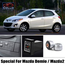 Auto TPMS For Mazda 2 Mazda2 Demio / Tire Pressure Monitoring System Of External Sensors / Embedded Installation DIY So Easy