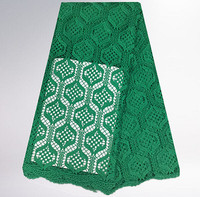 JC98 5green Free Shipping Embroidery Water Soluble Lace Fabric Top Quality African Guipure Lace Fabric For