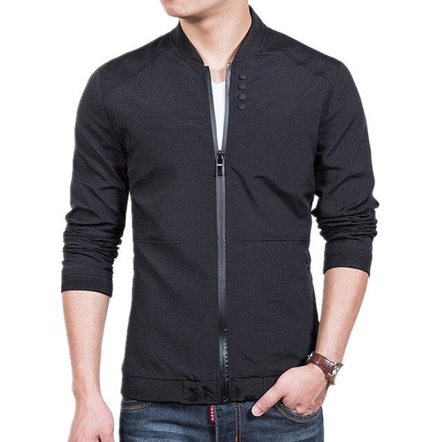 2018 Демисезонный Повседневное Твердые Мода Slim Курточка бомбер Для мужчин пальто новое поступление Бейсбол куртки Для мужчин куртка брендовая одежда