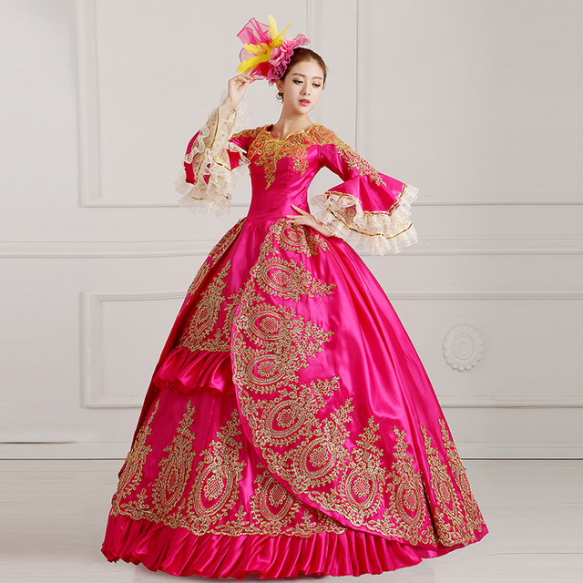 Heißer Verkauf Klassische Dunkelrote Farbe Palace Prinzessin Kleider ...