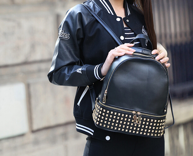 Online Buy Wholesale leather spiked backpack from China leather ...