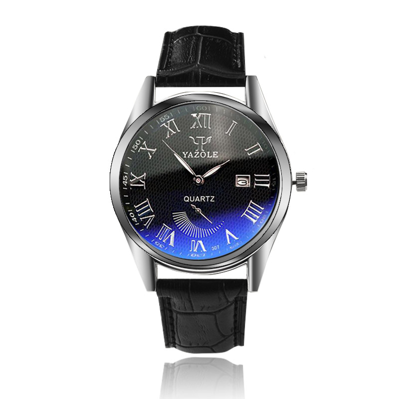 YAZOLE Brand Auto Date Watch Luxury Blue Glass Fashion Watch Men Watch Waterproof Watches Clock saat montre relogio masculino yazole top brand watch men watch waterproof sports watches fashion men s watch clock saat montre relogio masculino reloj hombre