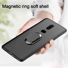 Ultra-thin Ring Bracket Soft Silicone Phone Case For Oneplus 6T 6 5T 5 Luxury TPU Cover T Magnetic Coque