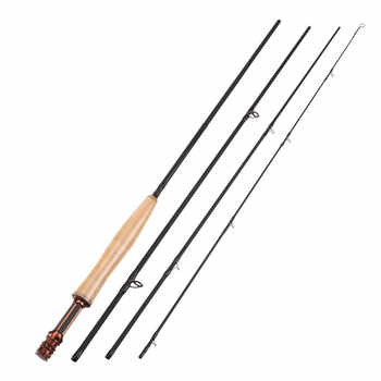 New SeaKnight MAXWAY HONOR Series Fly Fishing Rod 3/4# 4 Sections 2.4M 40T Carbon 3A Soft Wooden Handle Fly Rod