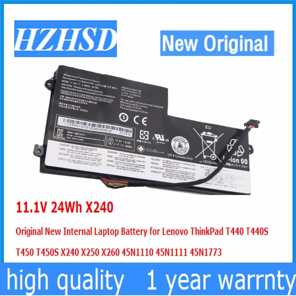 11.1V 24Wh X240 Original New Laptop Battery for Lenovo ThinkPad T440 T440S T450 T450S X240 X250 X260 45N1110 45N1111