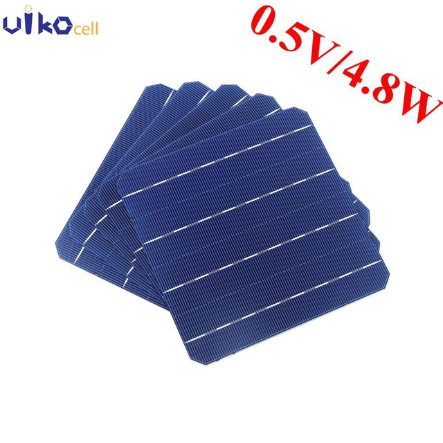 100 шт. 5 Вт 156x156 мм монокристаллического Панели солнечные солнечных батарей 6x6 для фотоэлектрических дома солнечной Системы