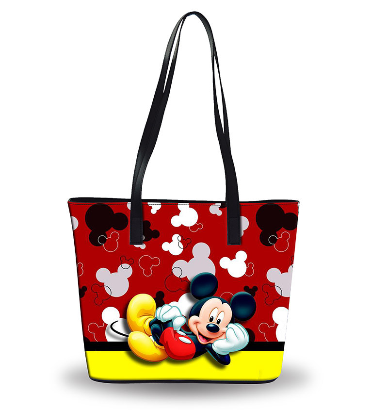 Image 2 - Disney Mickey mouse diaper Bag Shoulder Cartoon lady Tote Large Capacity bag Women waterproof bag fashion hand travel beach bagDiaper Bags   -
