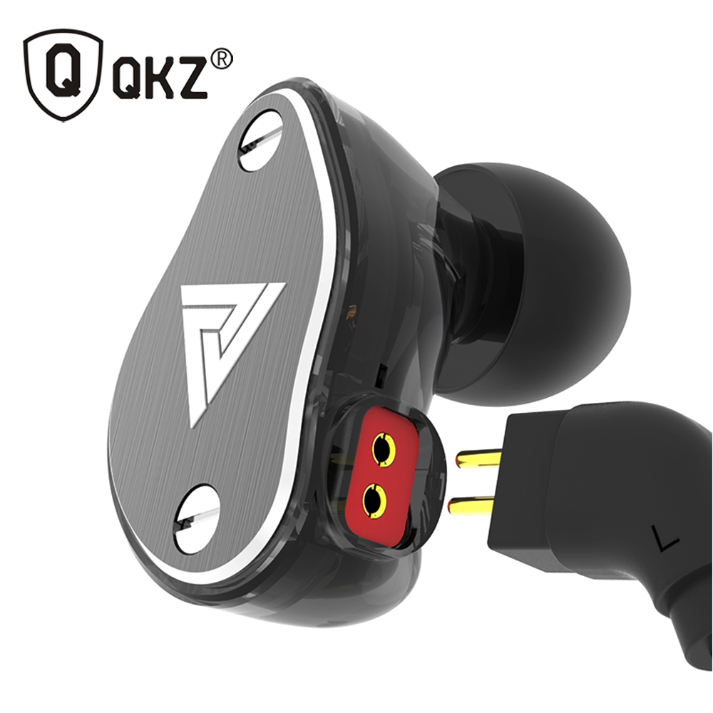 New QKZ VK6 4DD In Ear Earphone HIFI DJ Monito Running Sport Earphone Hybrid Headset Bass Earbuds With Mic Replaced Cable new kz es3 ba dd in ear earphone hybrid headset hifi bass noise cancelling earbuds with mic replaced cable
