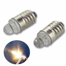 10pcs/lot Bottom- Side+ E10 DIP 1 LED White Warm Lights Miniature Screw Bulb lamp for DIY LIONEL DC3V 12V