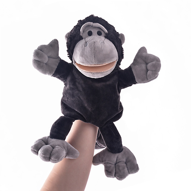 new arrival hand puppets monkey plush velour animals hand puppets