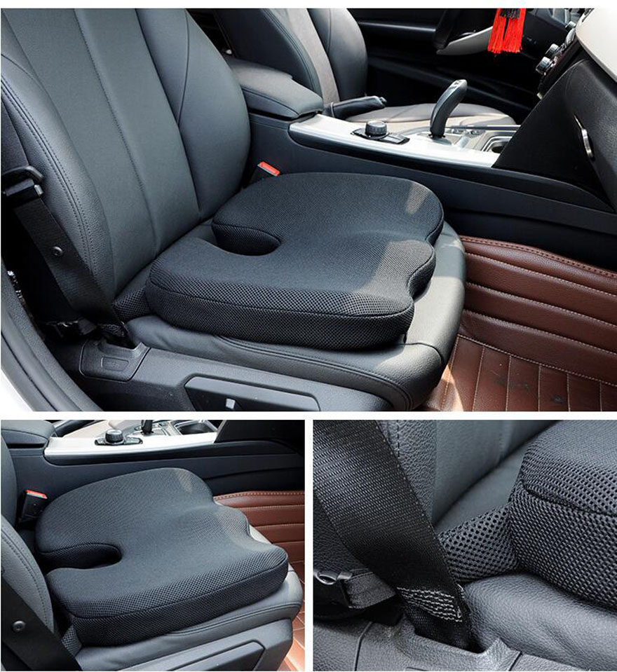 High quality Memory Foam Non-slip Cushion Pad Inventories,Adjustable Car Seat Cushions,Adult Car Seat Booster Cushions