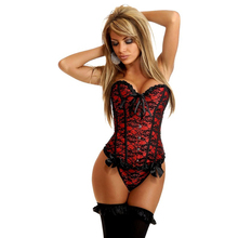 NEW lace bowknot Sexy lingerie Waist Workout Cincher underbust Body Shaper Shapewear Corset S XXL 0805