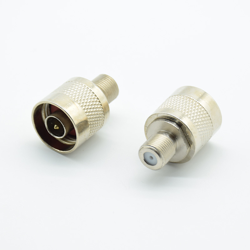 2pcs RF Connector N Male Plug Male Pin To F Female Jack Adapter