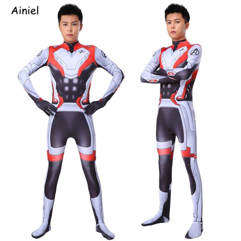 Endgame Quantum Realm Cosplay Costume Bodysuit Suit Superhero Captain America Iron Man Thor Jumpsuit Zentai Men Kids