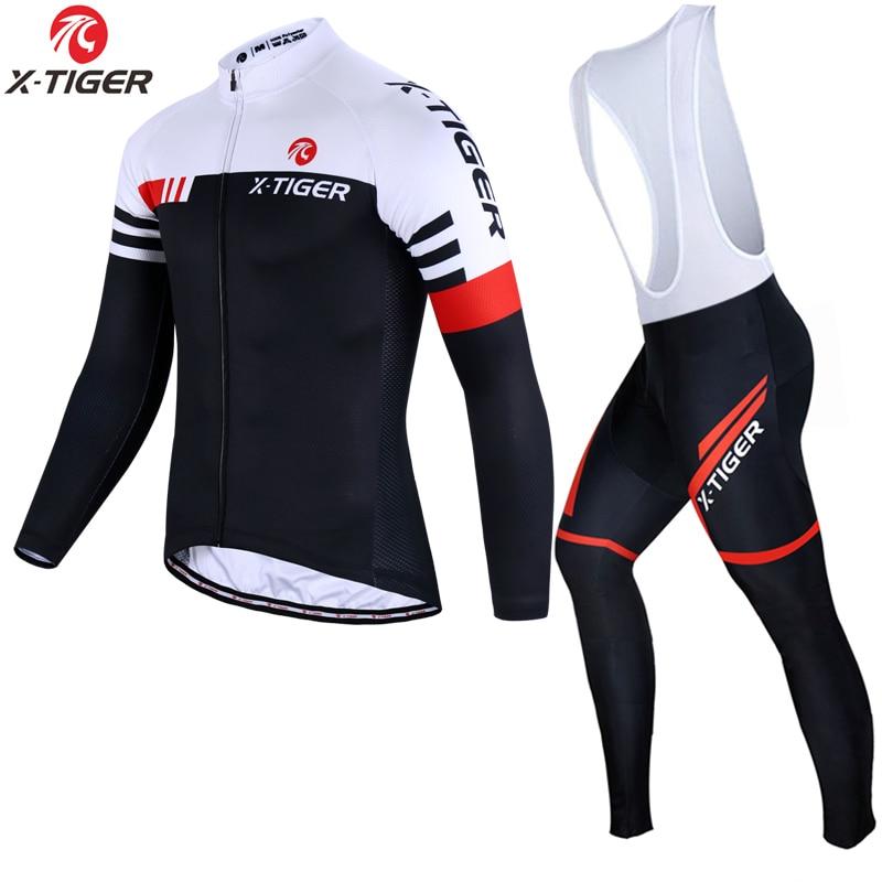 X Tiger Winter Thermal Fleece Cycling Jersey Set Cycling Clothing Super Warm Mountain Bike Wear Racing