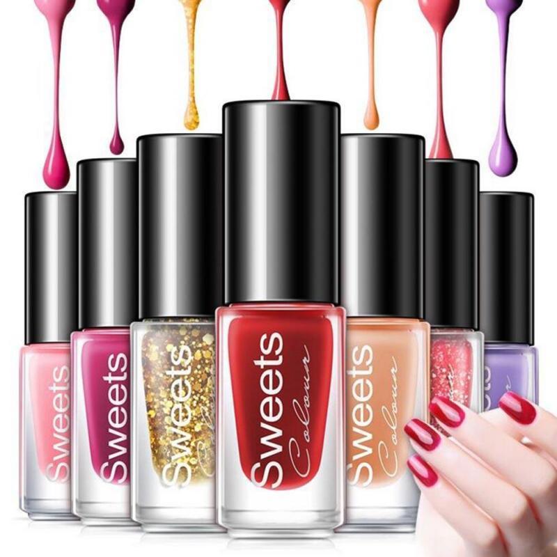 5pcs/set Colorful Water Base Peel Off Nail Polish Paint Lacquer Professional Nail Art Enamel Cosmetics Nail Polish Y3