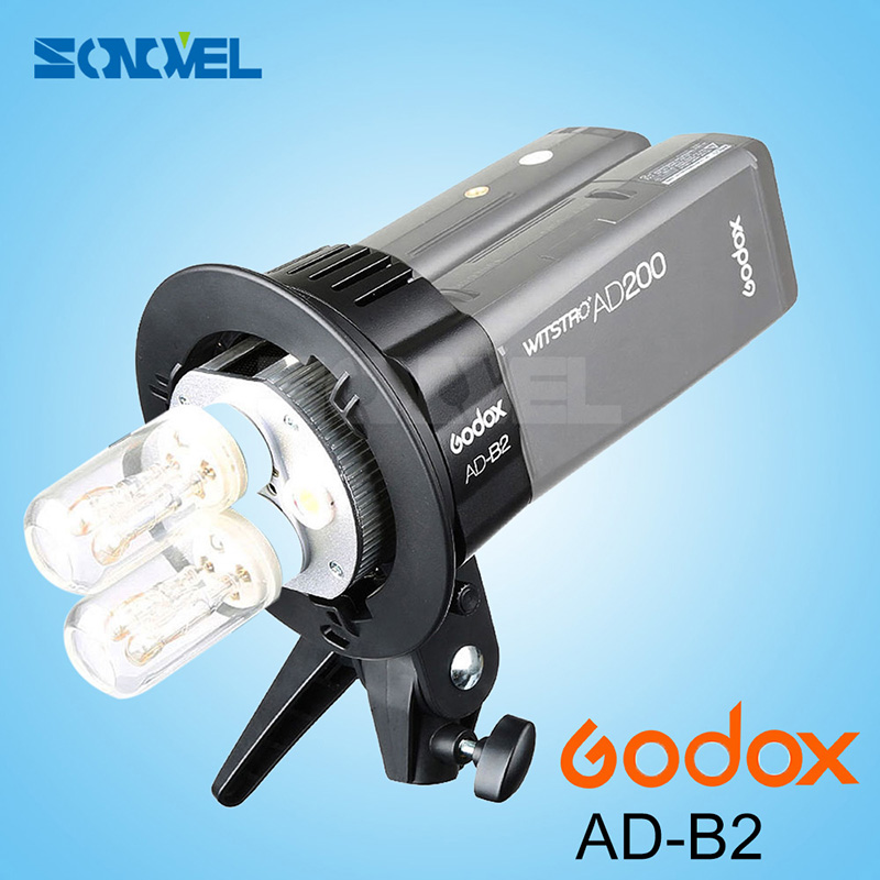 все цены на In the Stock New Arrival Godox AD Power Outdoor Flash Accessories AD-B2 For AD200 Dual Power Flash Bowen Mount Adapter