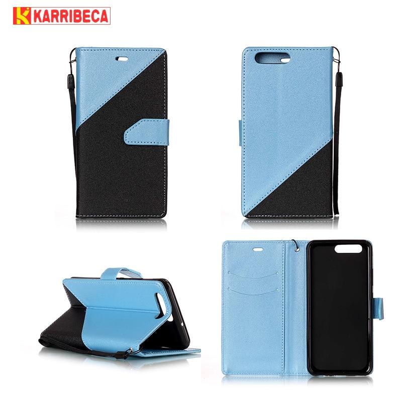 Karribeca Flip PU Läderfodral för Huawei P10 fodral täckväska med - Reservdelar och tillbehör för mobiltelefoner