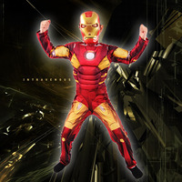 Iron Man Mark 42 Costume with Muscles For Kids Child Cosplay Halloween Marvel (3 Designs) 2