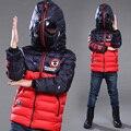 Человек-паук Дети верхняя одежда дети Одежда мальчиков человек-Паук Спортивная теплая зима пальто утолщение мальчик хлопка-ватник