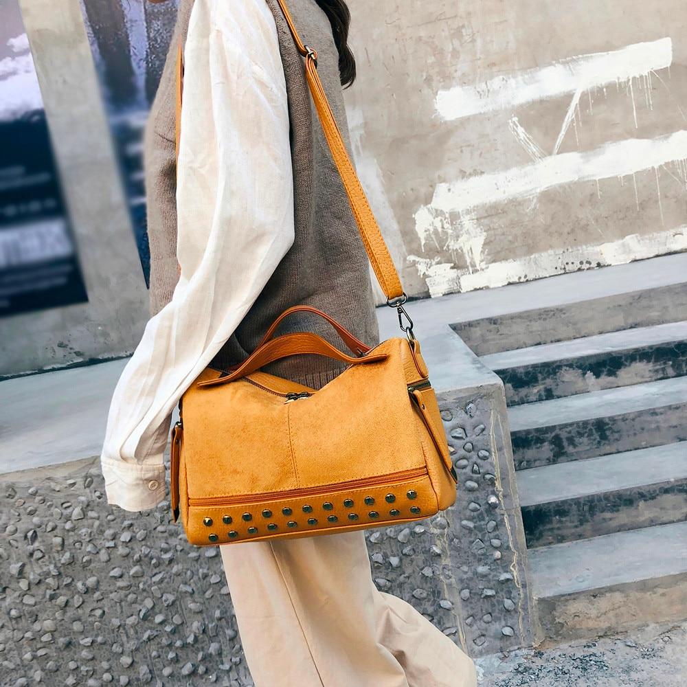 Shoulder-Bags Handbag Totes Female Vintage Girls Women Solid for Fashion Ladies Casual