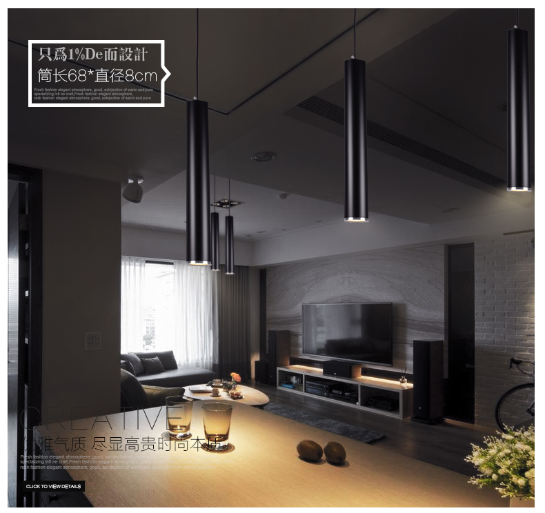 Contemporary Modern Led Cylinder Pendant Lights Kitchen Ceiling - Suspended kitchen ceiling lights