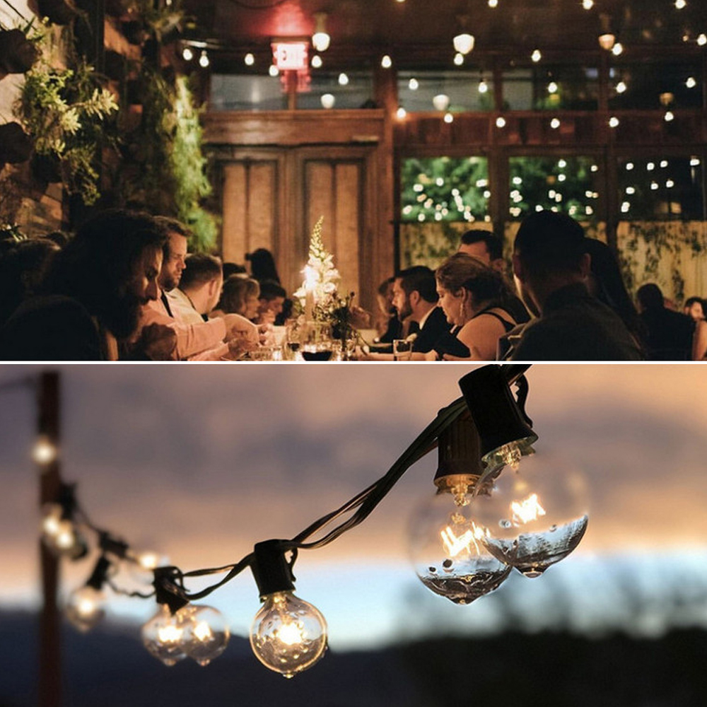 25ft G40 Globe Bulb String Lights With