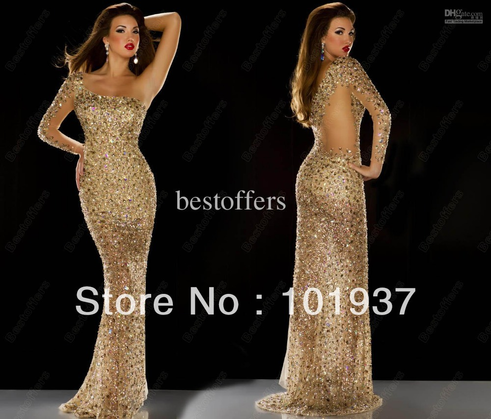2013 Miss Universe Best Dress Nude Rhinestone Covered -6216