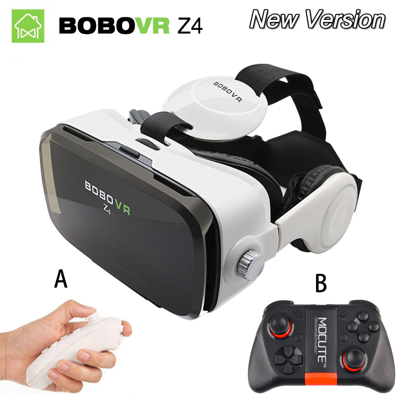 Virtual Reality goggles 3D Glasses Original bobovr Z4/ bobo vr Z4 Mini google cardboard VR Box 2.0 For 4.0''-6.0'' smartphone original bobovr z4 leather 3d cardboard helmet virtual reality vr glasses headset stereo box bobo vr for 4 6 mobile phone