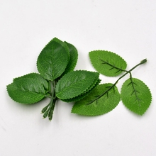 5 шт. искусственный цветок, лист высокая моделирования зелеными листьями для свадьбы украшения дома DIY Скрапбукинг Флорес искусственные поддельные цветы