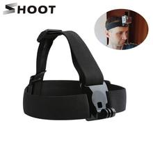 Arnés elástico SHOOT para pecho y cabeza para GoPro Hero 9 8 7 5 negro Sjcam Sj4000 Yi 4K H9r montaje de cámara para Go Pro 7 accesorio