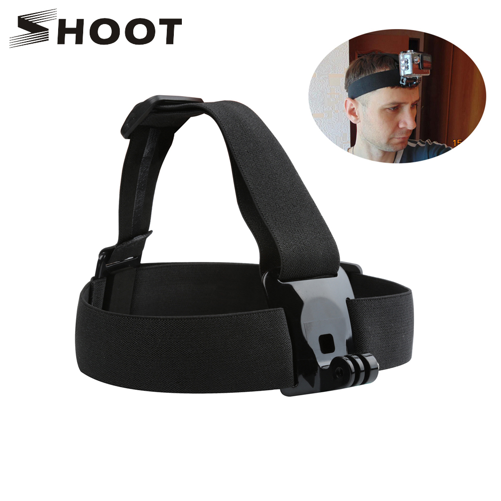 SHOOT Elastic Harness Head Strap for GoPro Hero 7 5 6 3 4 Session - კამერა და ფოტო