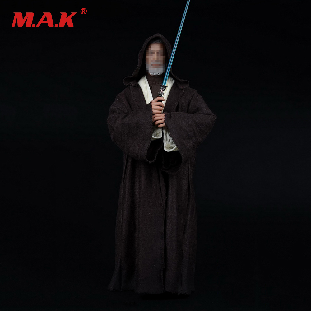 1/6 Scale  Star Wars Jedi Knights Obi-Wan Clothing Weapon Sword Sets Male Action Figure Accessories star wars jedi academy