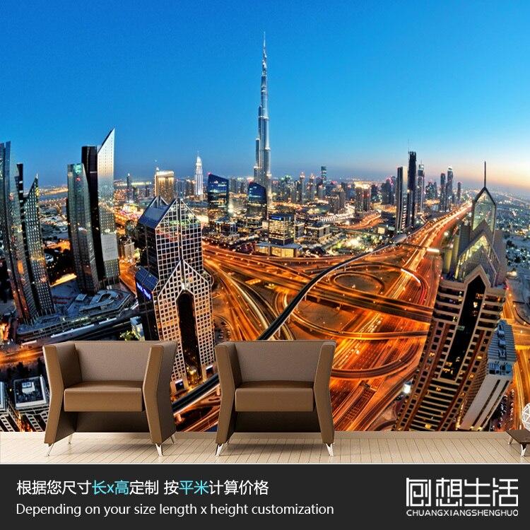 Buy mural skyscrapers dubai city for Construction mural