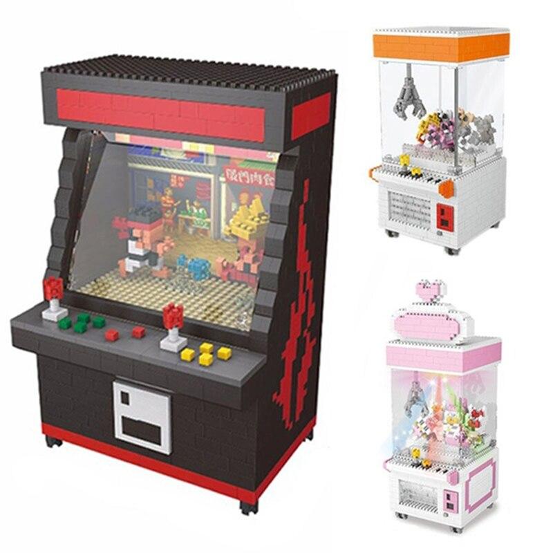 ZRK Clasic Mini Building Blocks Cartoon Fighter Game Model Clip Doll Bricks For Kids Gift Game Room Arcade Fighter VS Loz Balody